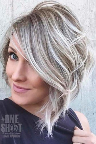 Latest Bold & Daring Asymmetrical Bob Haircuts+40 Shapely Styles 9