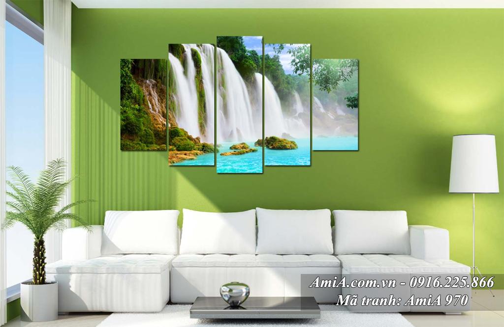 Những bức tranh thác nước đẹp hiện đại treo phòng khách