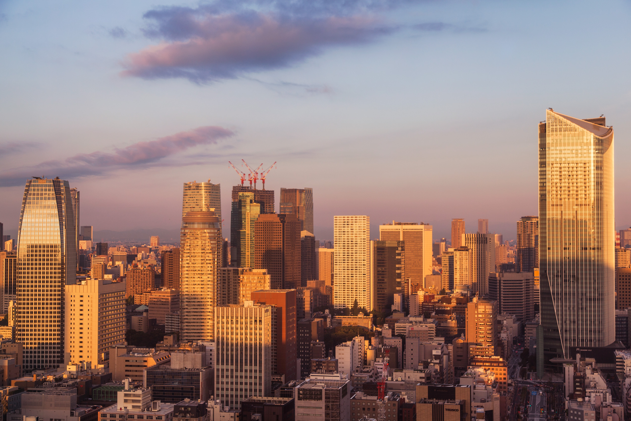 Sunrise over Tokyo