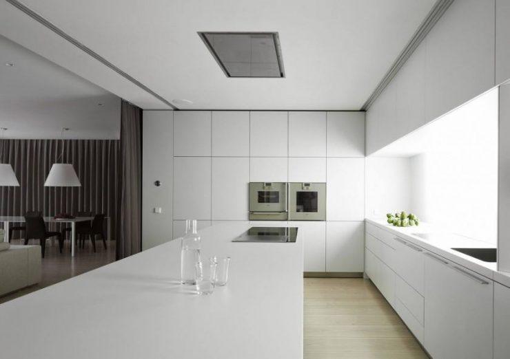 Мебель в минималистичной кухне