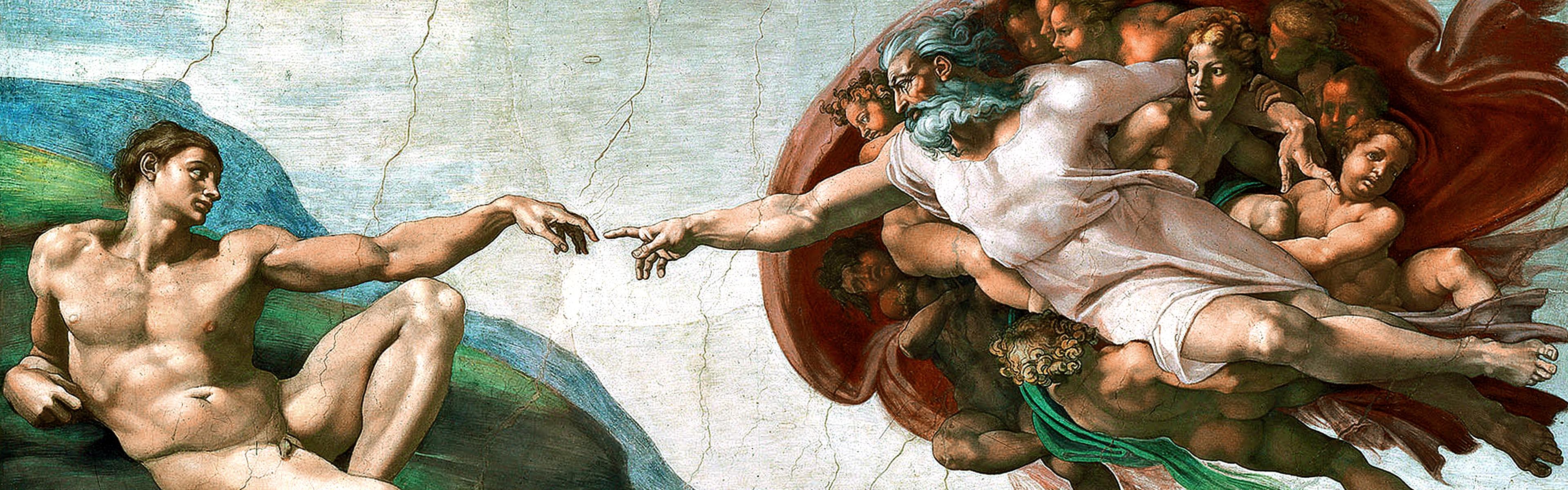 paintings michelangelo the creation of adam sistine chapel_www.paperhi.com_16