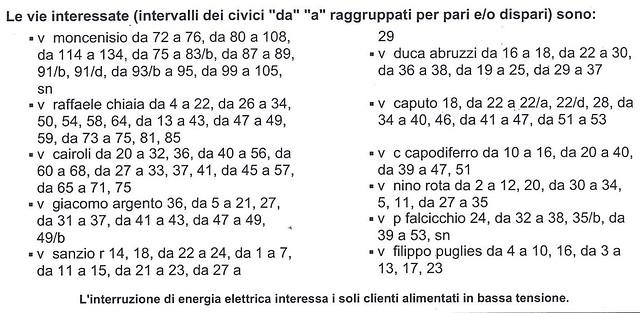interruzione erogazione energia elettrica