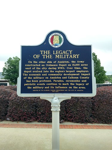 Anniston, Alabama - The Legacy of the Military Historical Marker