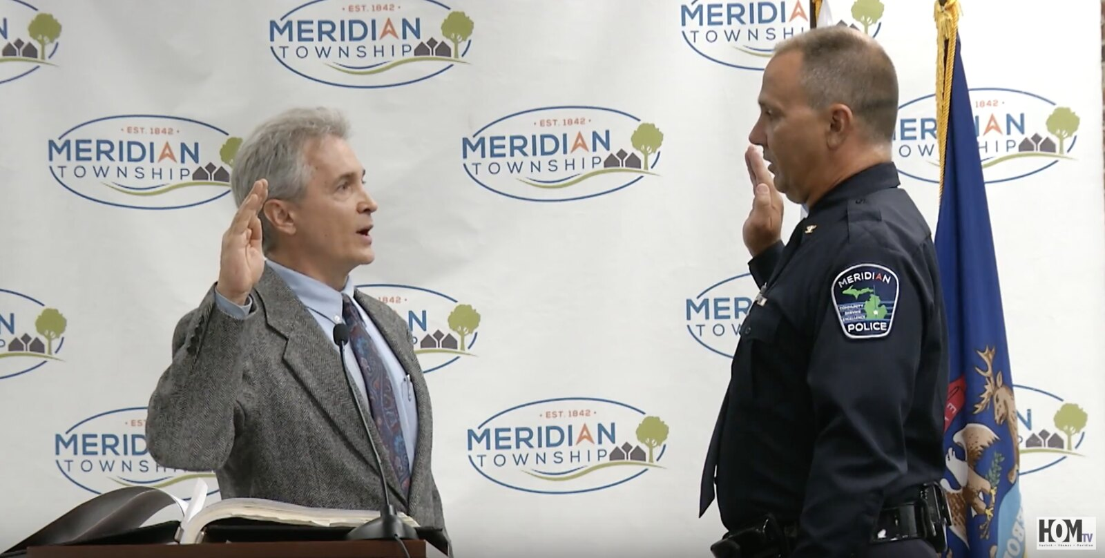 Meridian's New Police Chief Swearing-In Ceremony