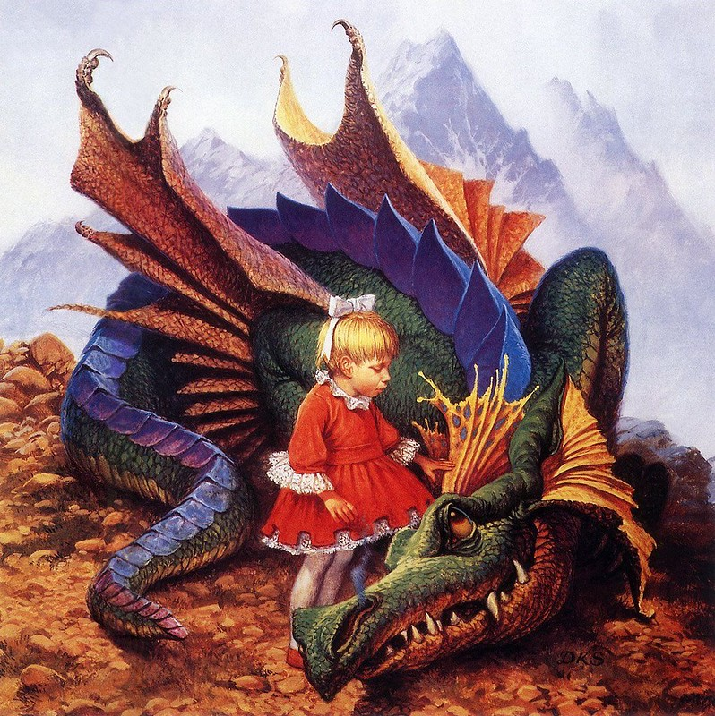 Xanth Dragon on a Pedestal