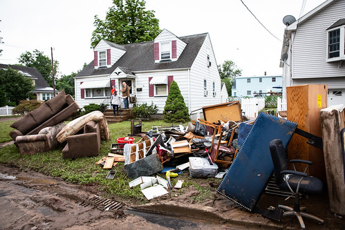 Governor Phil Murphy visits and tours the site of drastic flooding damage after a storm in Little Falls, New Jersey on Monday, August 13th, 2018. Edwin J. Torres/NJ Governor's Office.