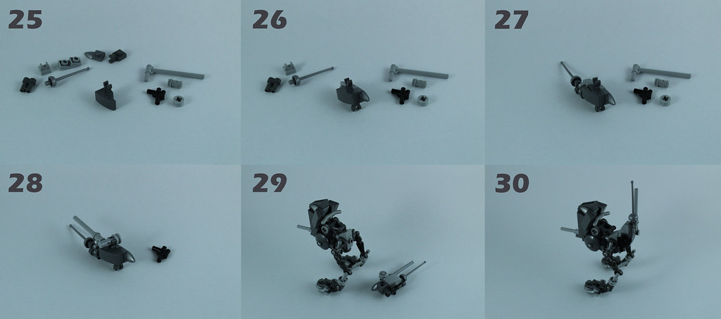 Lego AT-RT Tutorial 7/8 – Rear, antennas and assembly