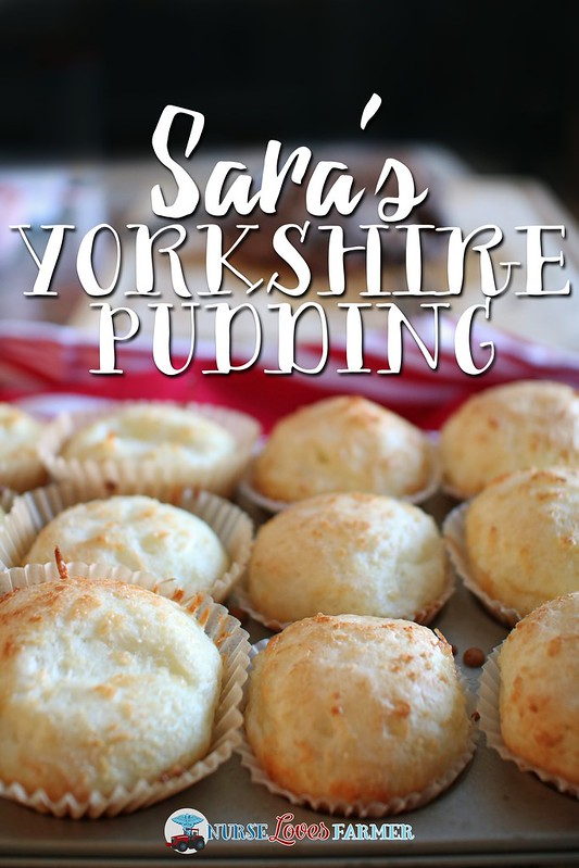 Sara's Yorkshire Pudding. A no-fail recipe for delicious Yorkshire pudding. 3 ingredients, easy clean up, loved by all!