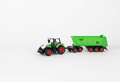 Farming tractor and trailer