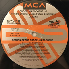 CROOKLYN DODGERS '95:RETURN OF THE CROOKLYN DODGERS(LABEL SIDE-B)