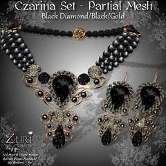 Zuri's Czarina Set P-Mesh Black DiamondGold