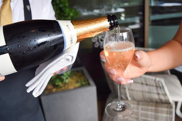 Drinking Nyetimber at Angler, Moorgate #nyetimber #englishsparklingwine #london #wineterrace #bar