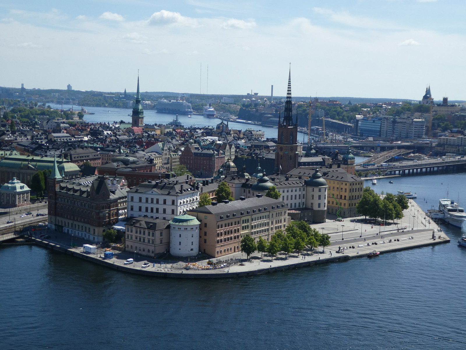 Stockholm City Hall view from top of the tower