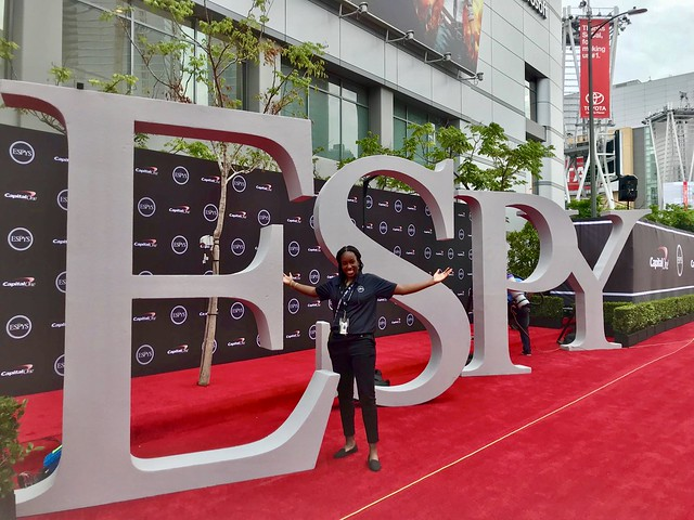 Rice sport management students intern at ESPYs and Kids' Choice Sports Awards