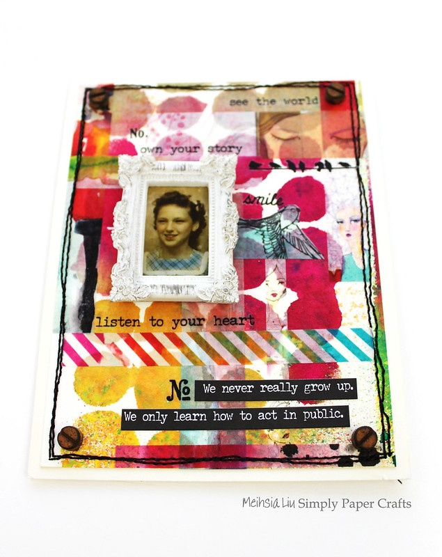 Meihsia Liu Simply Paper Crafts Mixed Media Card Simon Says Stamp Jane Davenport Tape 3
