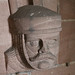 Stern Face in Stone