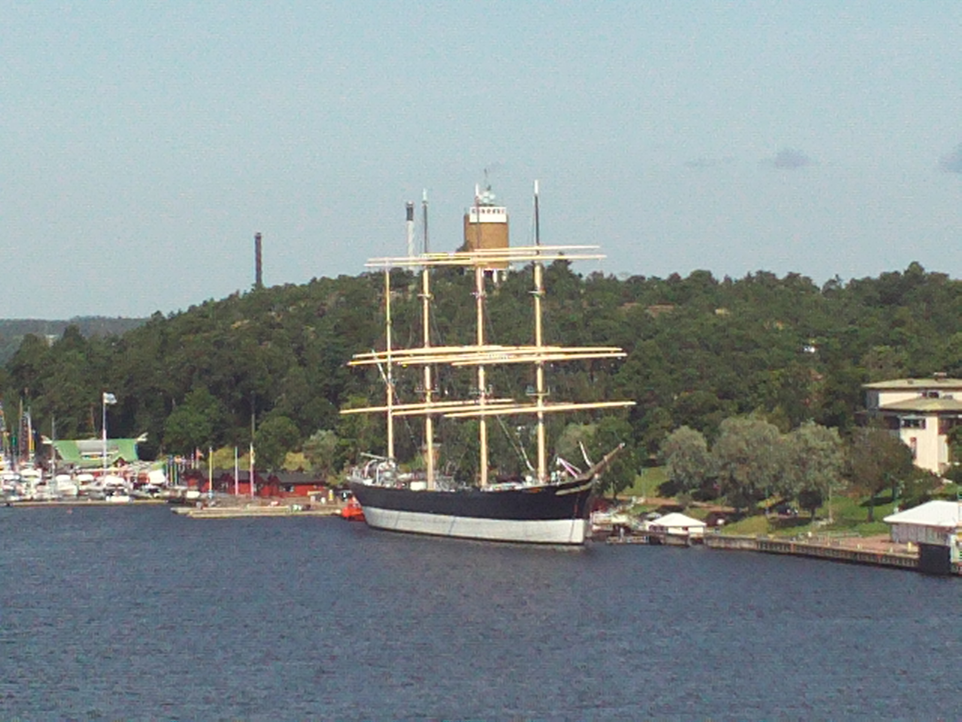 The four-masted barque Pemmern moored at the Åland Maritime Museum in Mariehamn. Photo taken on July 29, 2009.