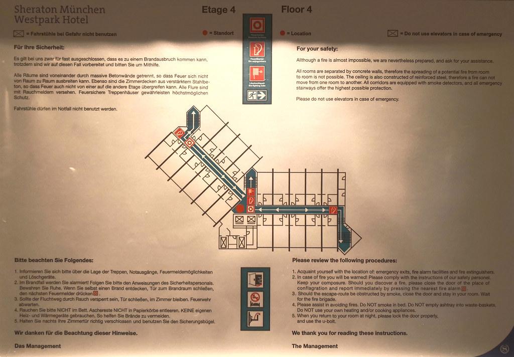 Hotel's floor plan