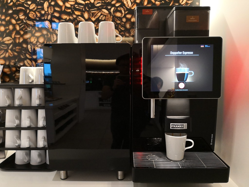 Touch screen espresso machine