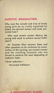 Documentary Classics 514 - Guenter Klow - More Women Who Seduce Girls (back)