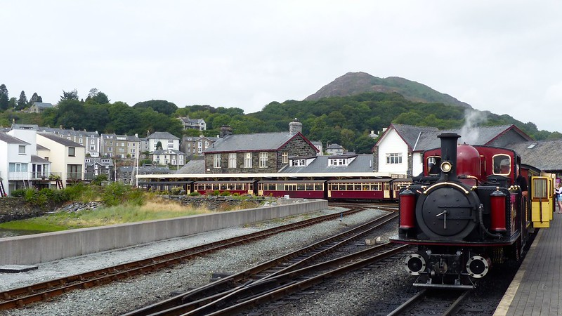 This is a picture of Porthmadog station on the The Ffestiniog and Welsh Highland Railways