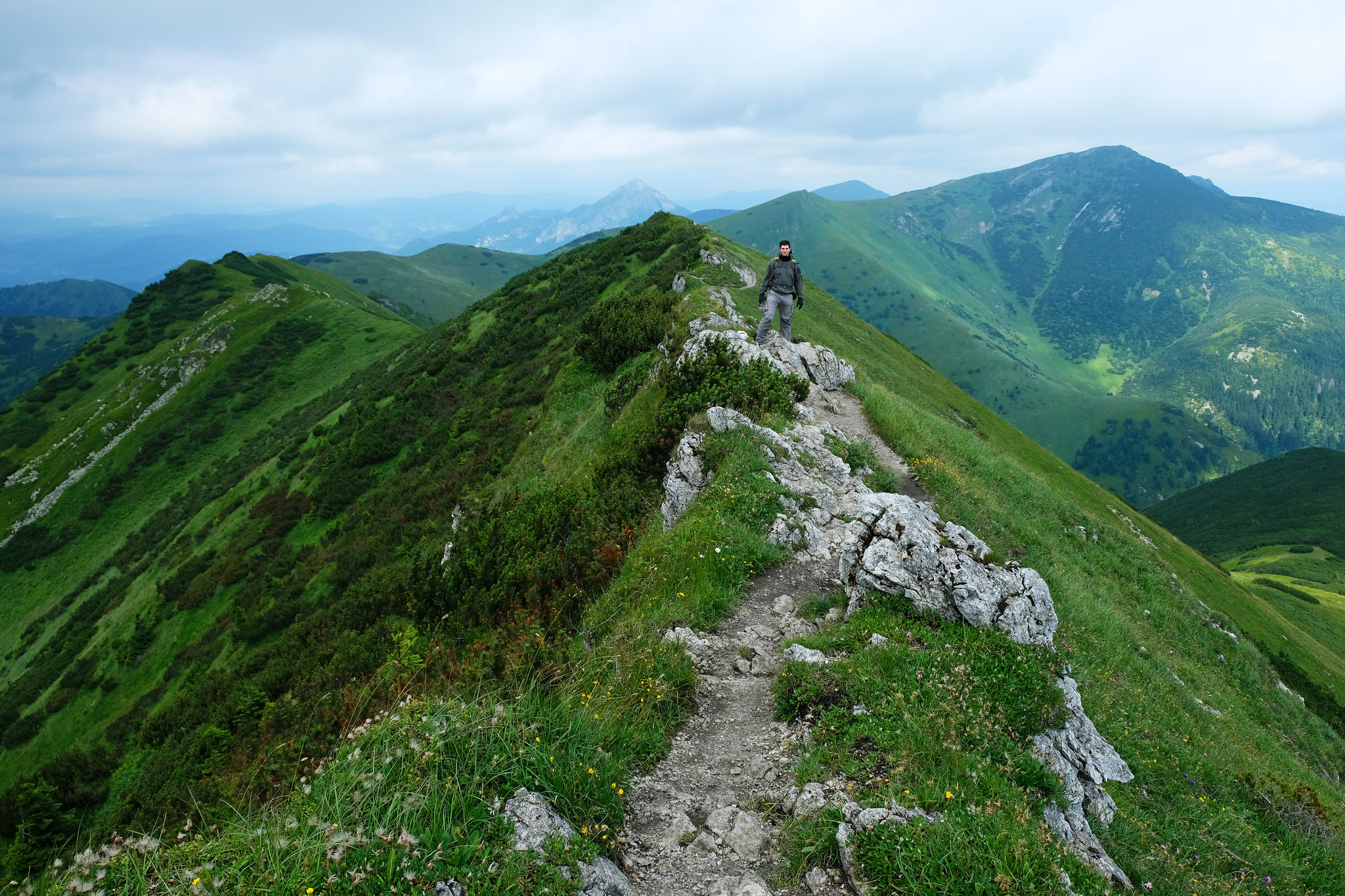Best Day Hikes Little Fatra: Hiking to Maly Kriváň, Little Fatra, Slovakia