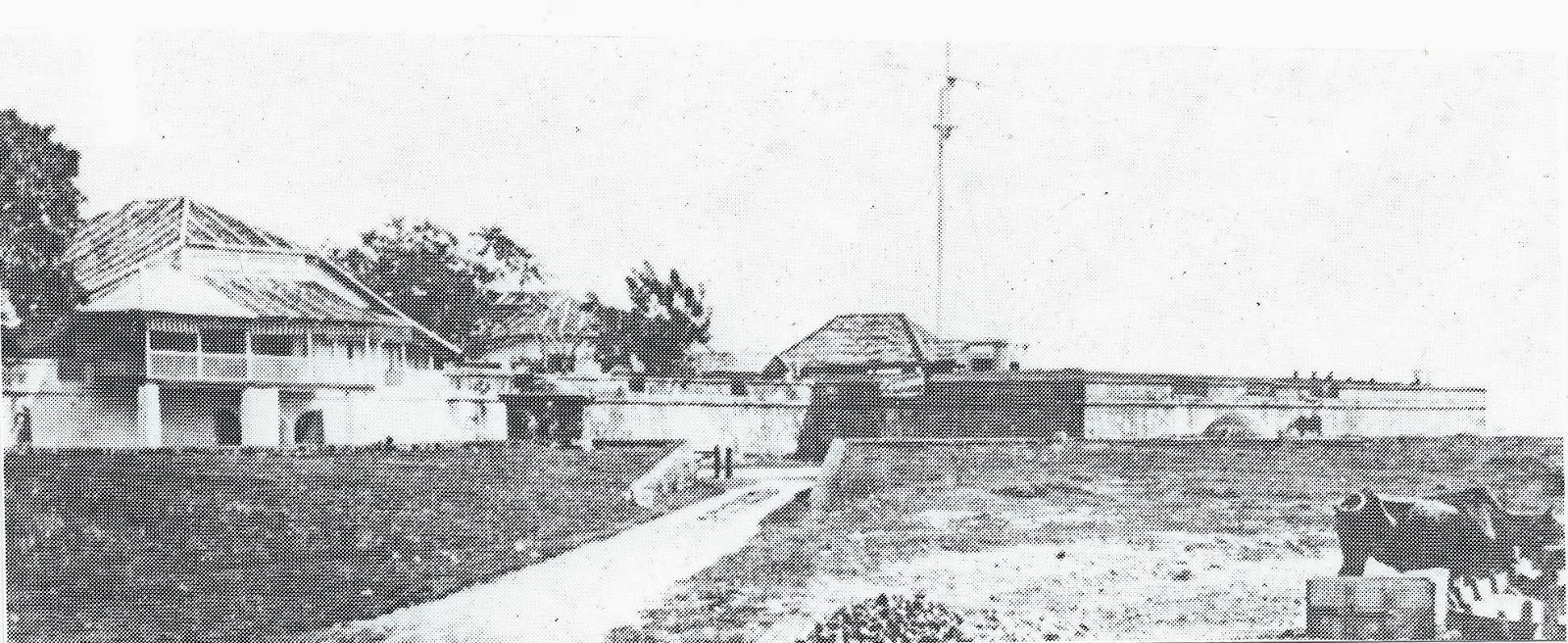 Fort Cornwallis , Prince of Wales Island (Pulau Pinang) circa 1850's. From the Museum Negara, Kuala Lumpur, collection.