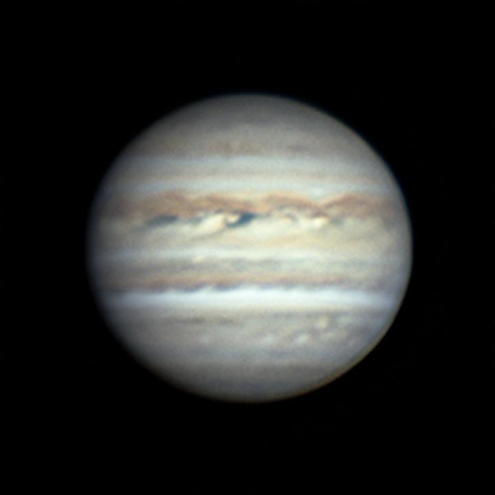 木星 (2018/7/23 20:09-20:16) (1500/3000 x 3 de-rotation (20:12) LRGB)
