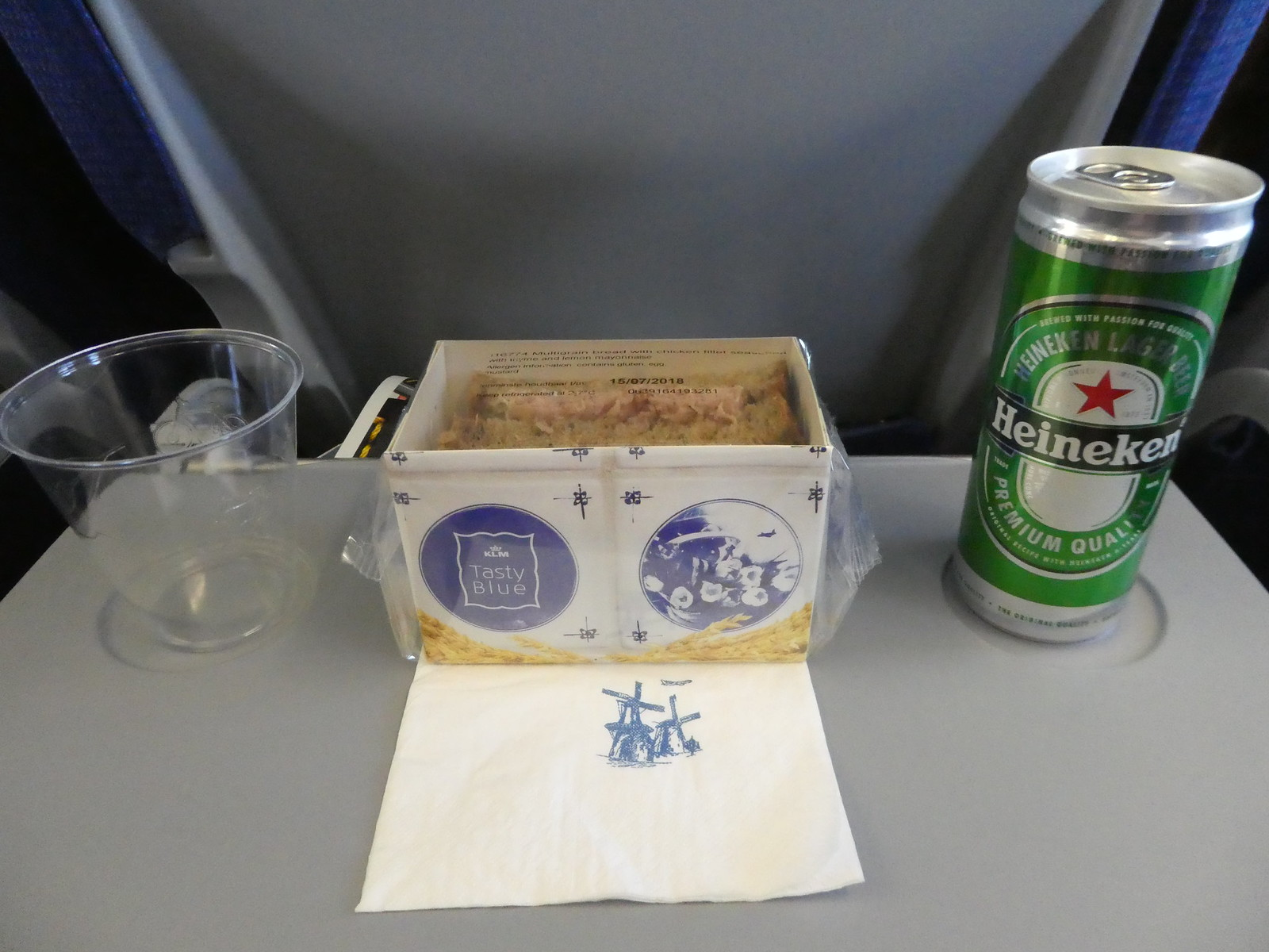 Snack served on our KLM flight between Amsterdam and Stockholm