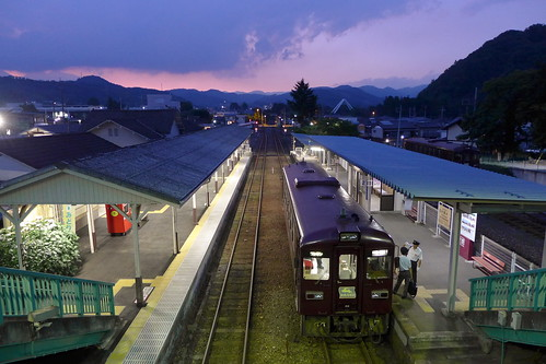 大間々駅にて2018年6月撮影