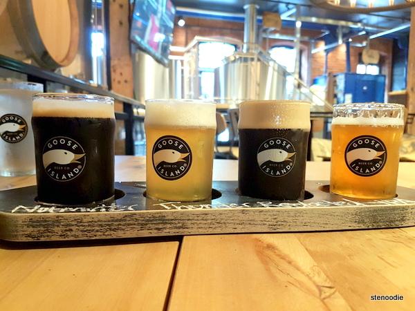 Goose Island Brewhouse Toronto beer flights