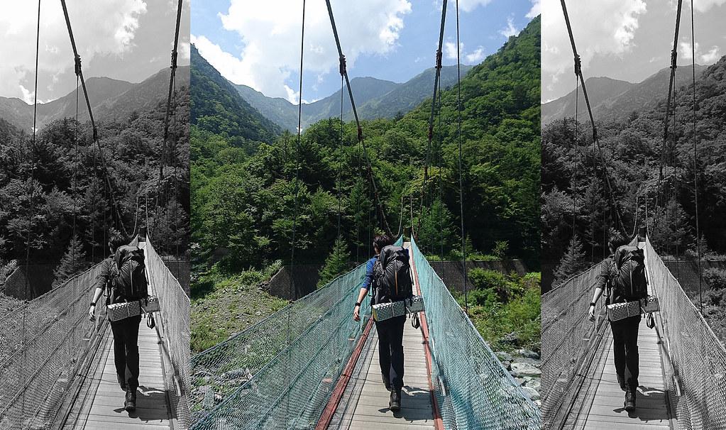 北岳つり橋