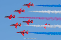 The Red Arrows at RIAT 2018