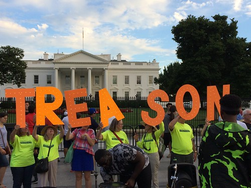 First 5 days of protests at the Whites, triggered by Trump / Putin #TreasonSummit in Helsinki.