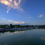 Evening skies at Preston Docks
