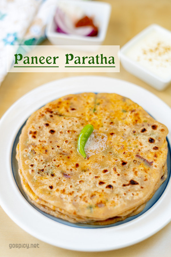 Paneer Paratha Recipe by GoSpicy.net