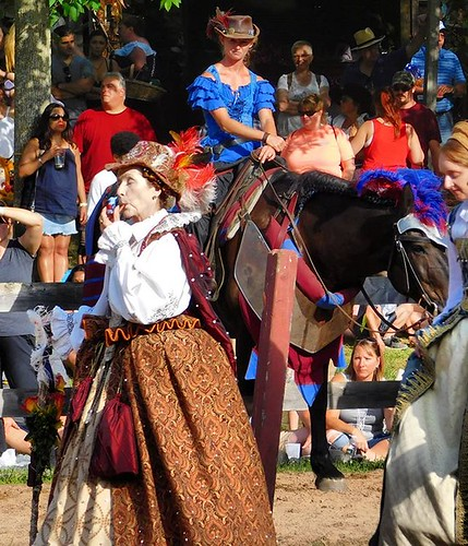 The Queen crosses the Tourney field. What treachery doth Milady In Blue have in mind? #sterlingrenaissancefestival #renfest #renfaire