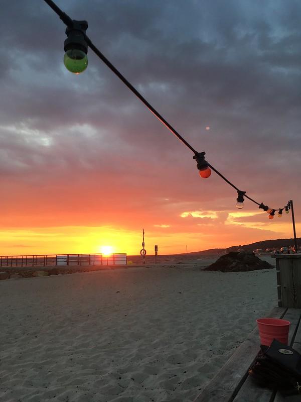 saturday, sunset, barfota beach, helsingborg