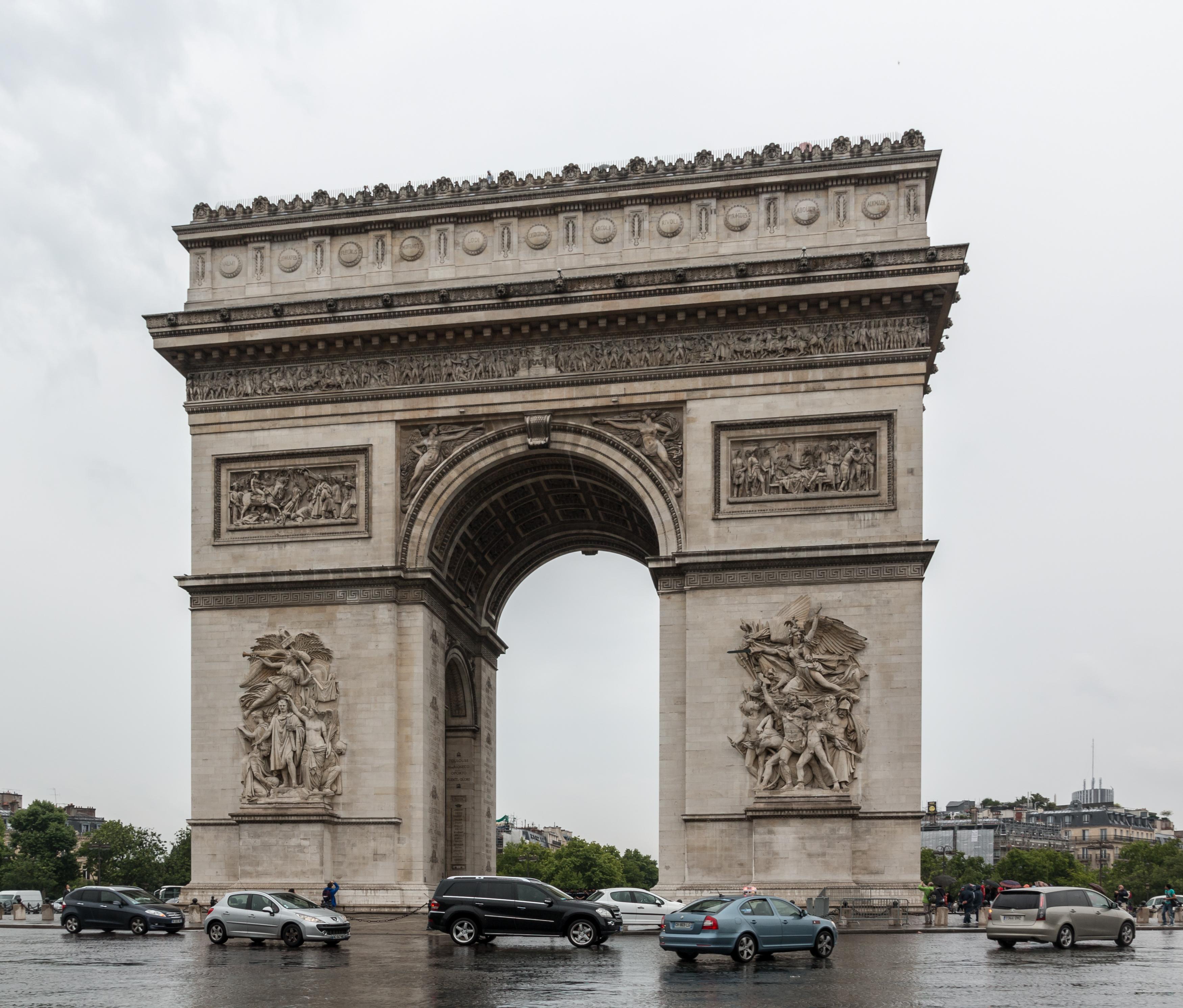 Arc de Triomphe de l'Étoile, Paris, France. Photo taken on July 9, 2014.