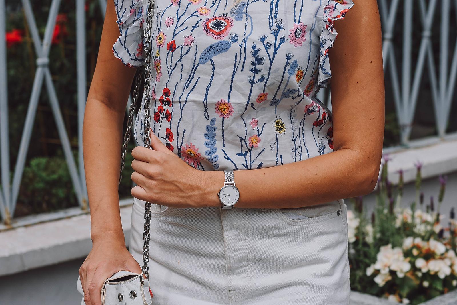 Shein floral print blouse