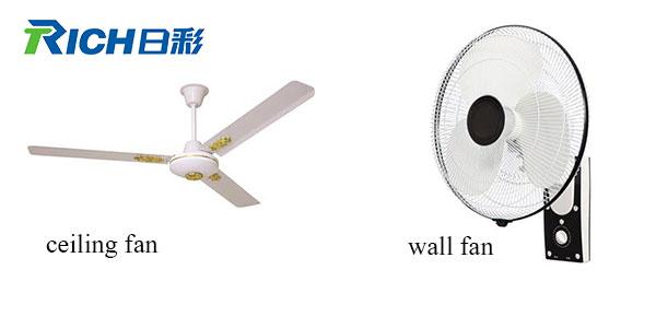 wall fan and ceiling fan