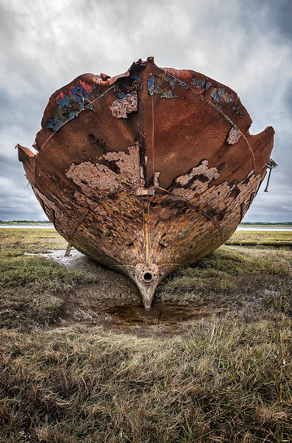 Left High and Dry, Fishing, Boat Wreck, Fleetwood, Lancashire
