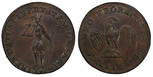 1787 NY Excelsior Standing Indian Eagle on Globe