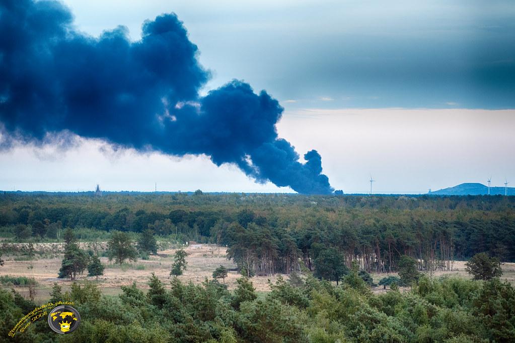 Brand in Helchteren vanop uitkijktoren Koersel