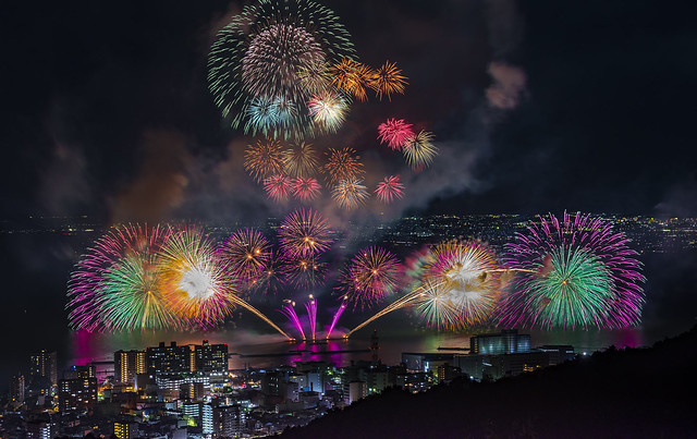 Summer fireworks in Japan
