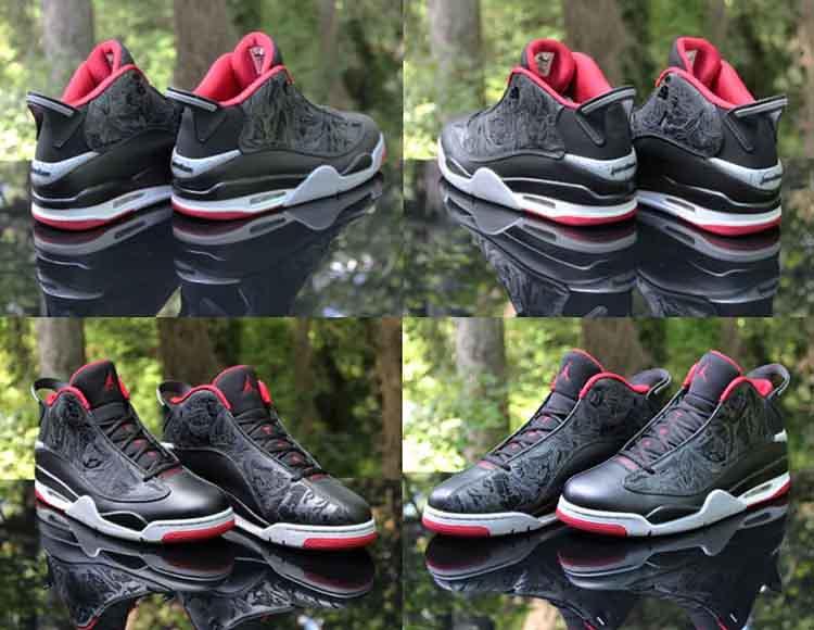 1aa50a86655 ... Air Jordan Dub Zero Bred Black Gym Red Grey 311046-013 Men s Size 13