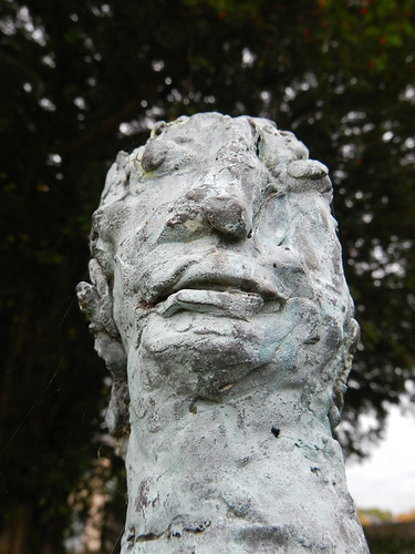 A statue in the garden in the Museum of Modern Art in Dublin, Ireland