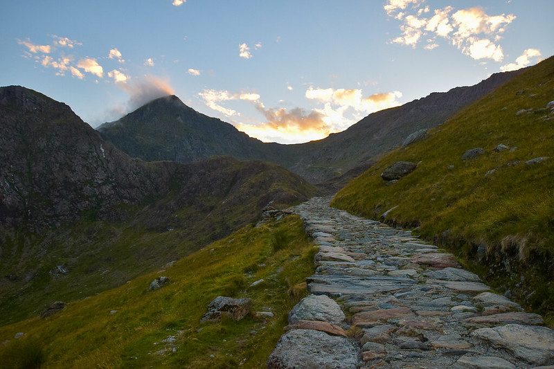 Miner's Track to Snowdon base in Snowdonia