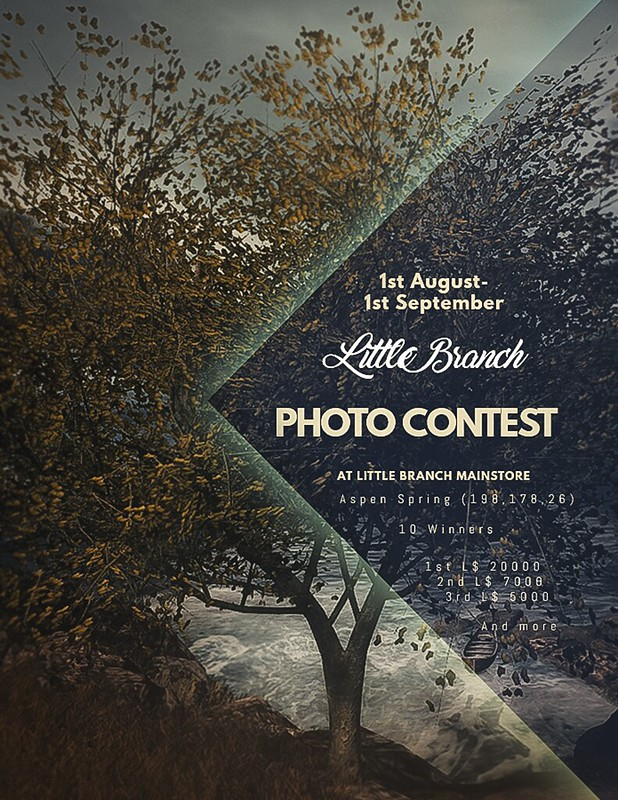 Little Branch Photo Contest L$32k Prizes