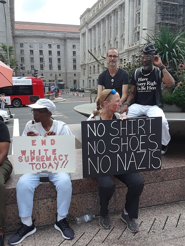 Counter Protest Rally in Freedom Plaza
